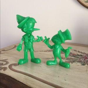 Pinocchio & Jiminy Cricket Marx Figurines